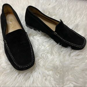 GEOX RESPIRA black suede Italy slip on loafers 6